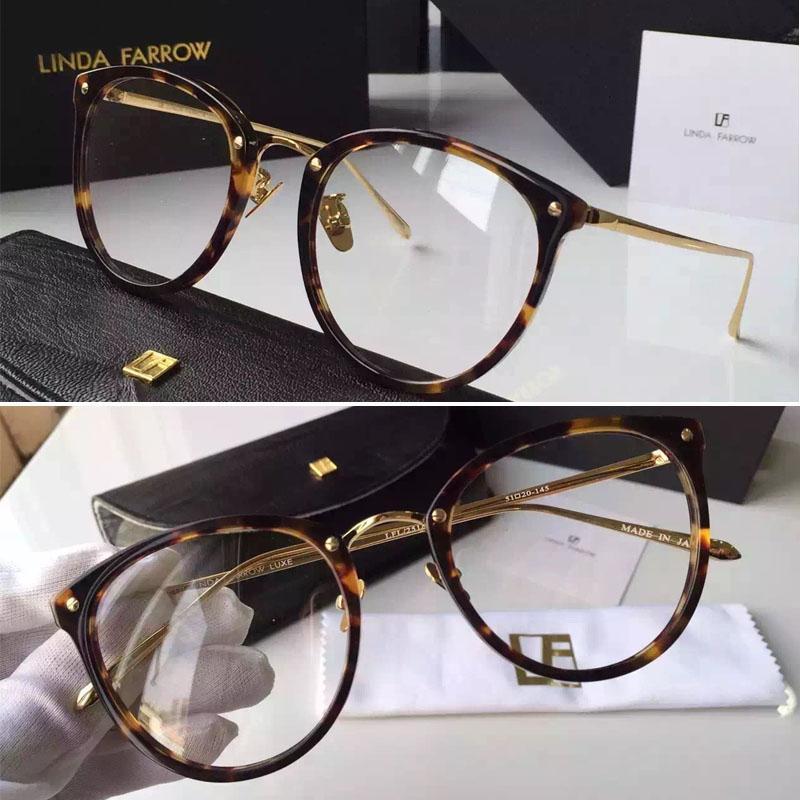 456c483b033 2019 2016 New Linda Farrow High Quality Brand Oculos LFL251 18K Gold  Plating Occhiali Optical Glasses Women Glasses De Sol Lunette De Soleil  From ...