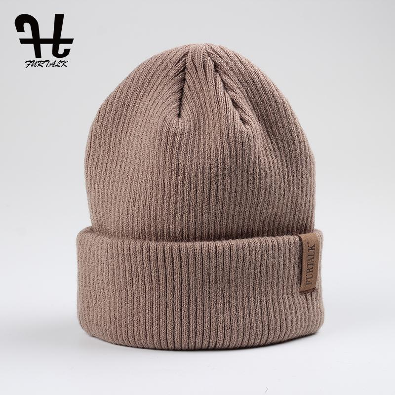 Wholesale FURTALK Spring Autumn Woman Wool Knit Beanie Hat Cuff Beanie  Watch Cap Spring Skull Hats For Women Bucket Hats Beanie From Fashionkiss be28e97e3f1