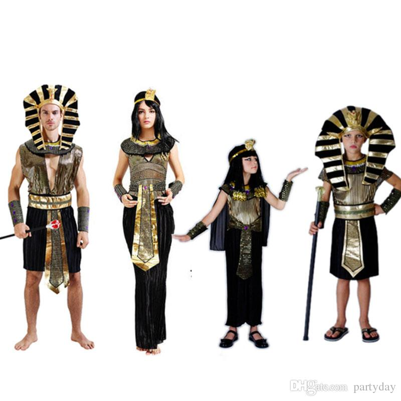 halloween costume egypt prince princess pharaoh cosplay fancy dress performance clothes halloween party supplies new year showtime themed outfits four - Clothes Halloween