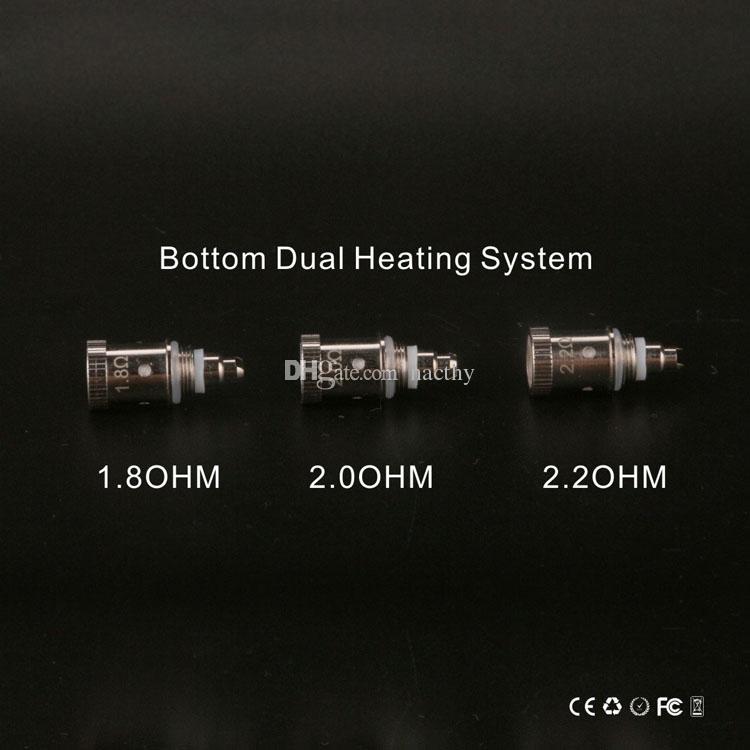 Wysokiej jakości i najtańsze GS H2S Atomizer Doto Dual Coils GH-H2S Clearomizer Aktualizacja GS-H2 dla EGO One Mega Kit 2200mAh E Cig Battery
