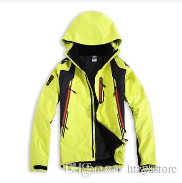 мужские весна-зима 3in1 съемный из двух частей водонепроницаемый открытый скалолазание альпинизм куртка отдых пальто