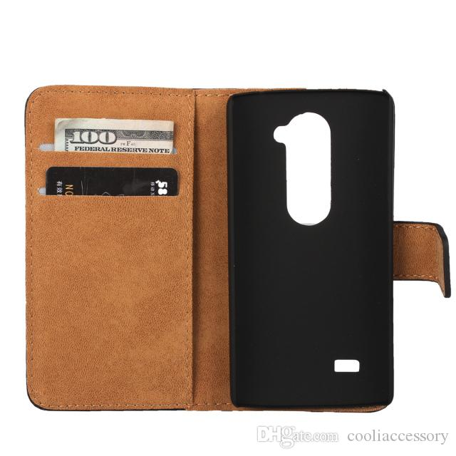 For Xiaomi 6 M6 Redmi NOTE 6 Sony Xperia XZ3 Wiko Ridge 4G LG Leon C40 Genuine Real Wallet Flip Leather Case ID Card Stand Smooth Skin cover