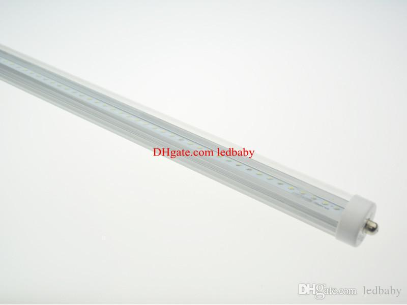 FA8 Single Pin 2.4m 8ft Led Tubes Light Clear/Frosted Cover T8 45W 4000lm Led fluorescent Tubes Warm/Natural/Cool White 85-265V