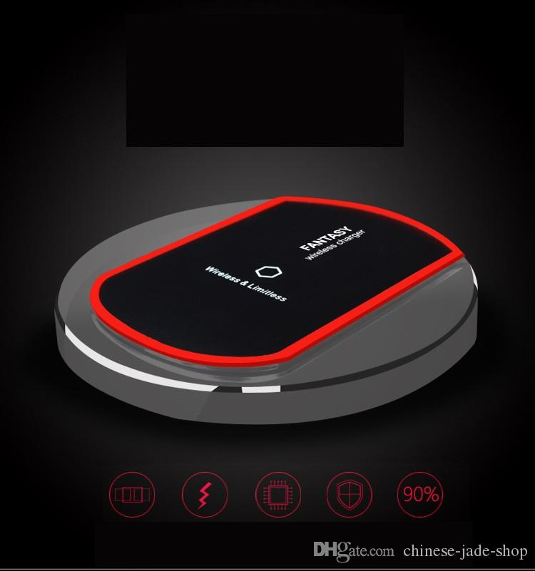 Qi Wireless Charger Crystal K9 Generation 2 Charging for Samsung s7 edge s8 plus iphone8 X Fantasy Portable Charger Phone with Retail
