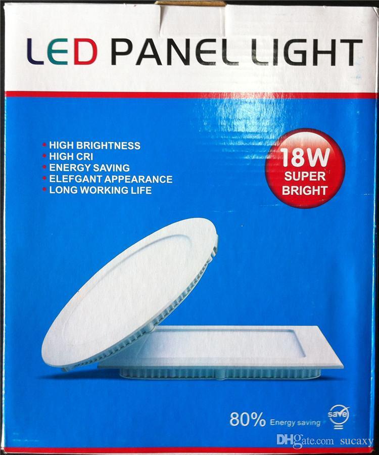 Renk Kutusu 9W / 12W / 15W / 18W / 21W CREE Gömme Gömme Lambalar Lamba Sıcak / Doğal / Soğuk Beyaz Süper-İnce Led Panel Işıklar Yuvarlak / Kare 110-240V