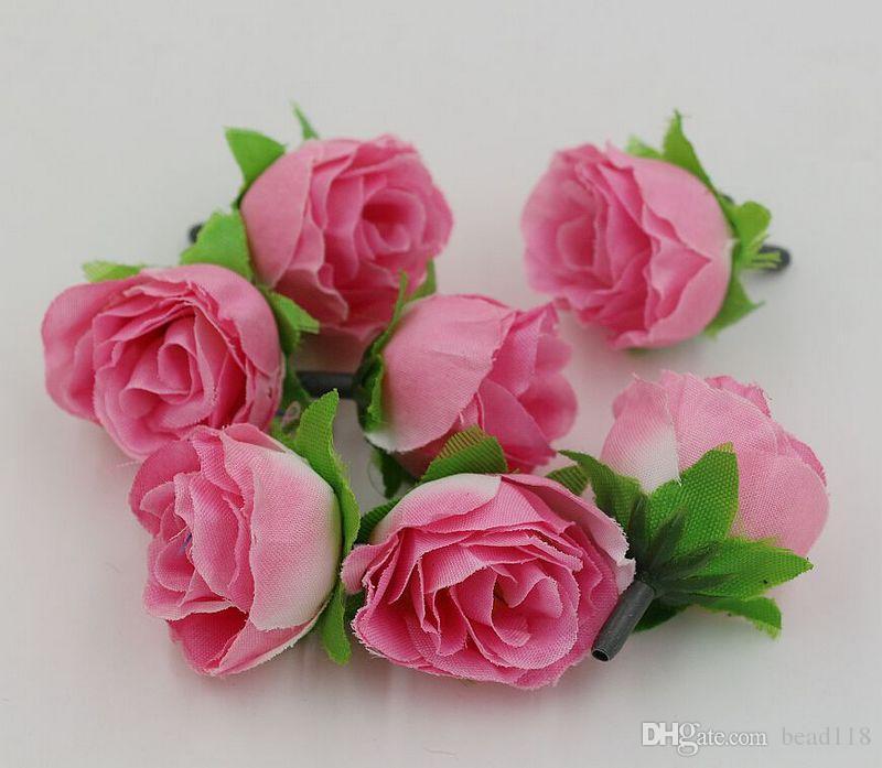 عرض ساخن ! 500 قطع 7-color الشاي روز زهرة رئيس الاصطناعي زهرة الزفاف تزيين الزهور za81