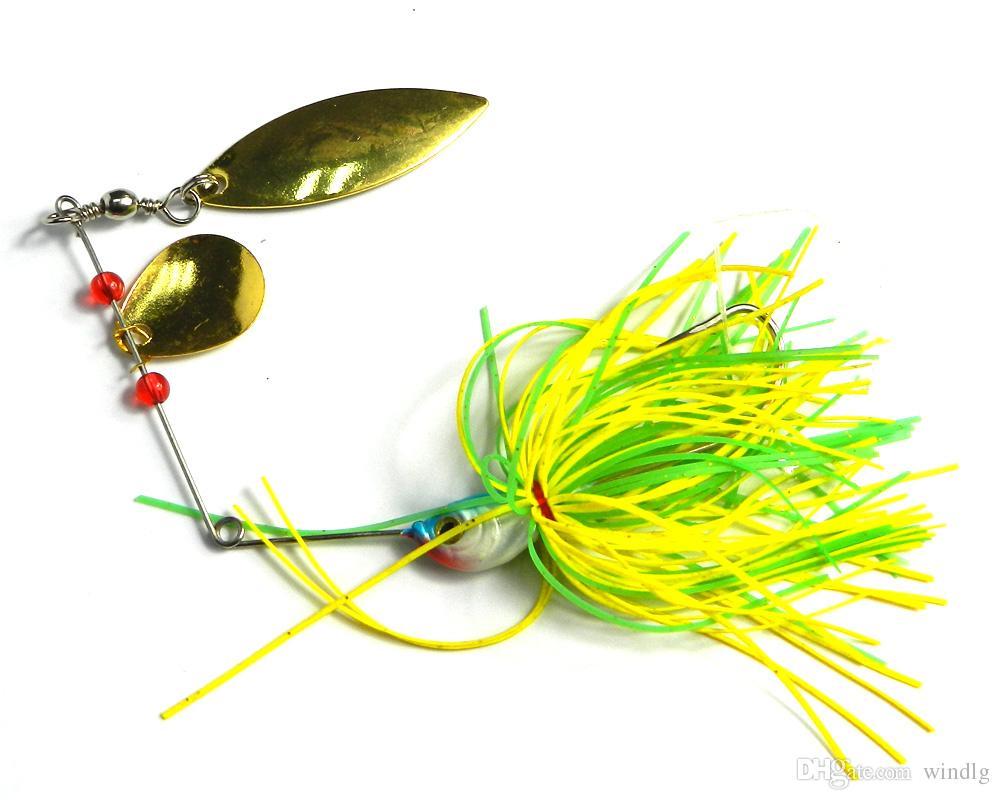 Hengjia / de 19,8 g / 0,7 oz spinner cebo señuelo de pesca en aguas poco profundas cucharas de agua dulce Bajo lucioperca Minnow LURES SB008