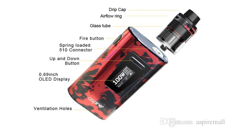 100% Authentic Aspire Typhon Kit 5000mAh Typhon Battery 100W Vape Wholesale Aspire E Cigarettes