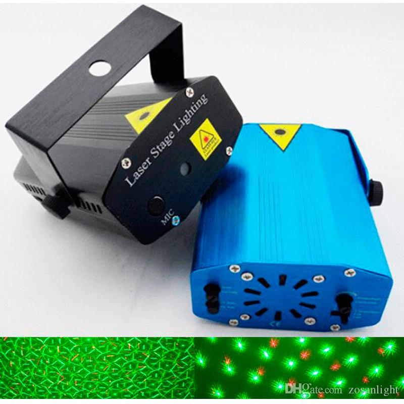 Multicolor Led Mini Laser Stage Lighting 150MW LED Laser DJ Party Stage Light Black Disco Dance Floor Lights With Tripod lights