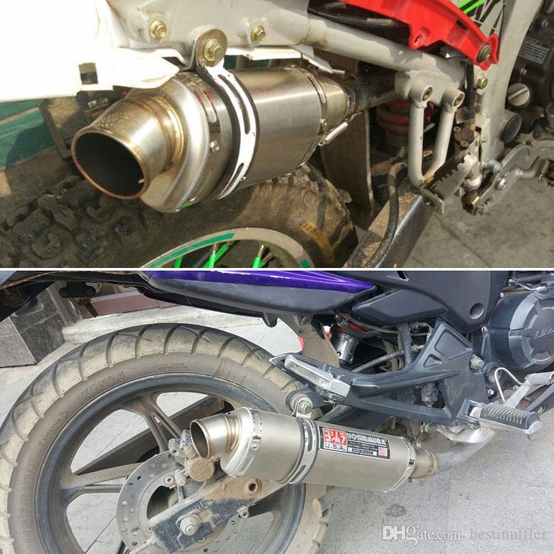 Motorcycle Exhaust Muffler Pipe ATV Pit Dirt Motorcycle GP Pipe Slip on 38-51mm