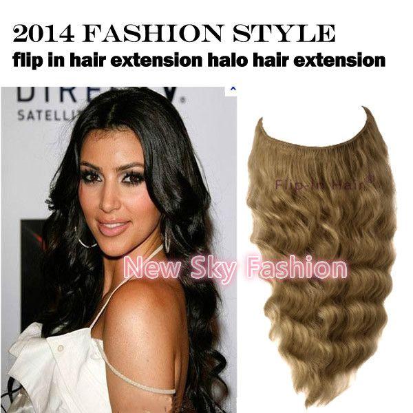 100 Human Hair Deep Wave Style Fashion Halo Hair Extension