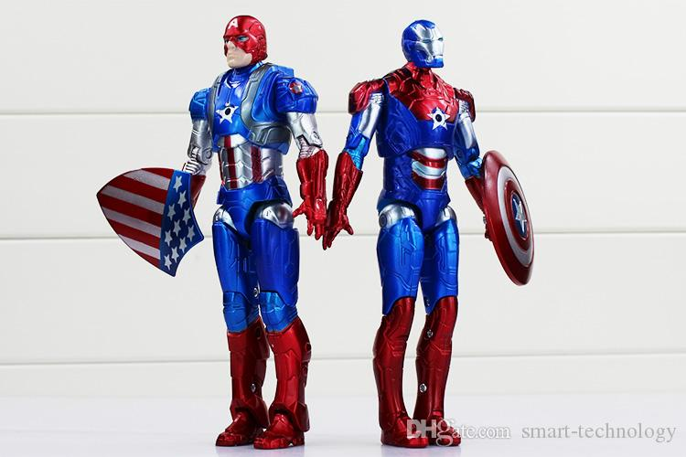 2 Styles Captain American Super Hero PVC the Avengers figure cool modle for Kids Toy New High Quality