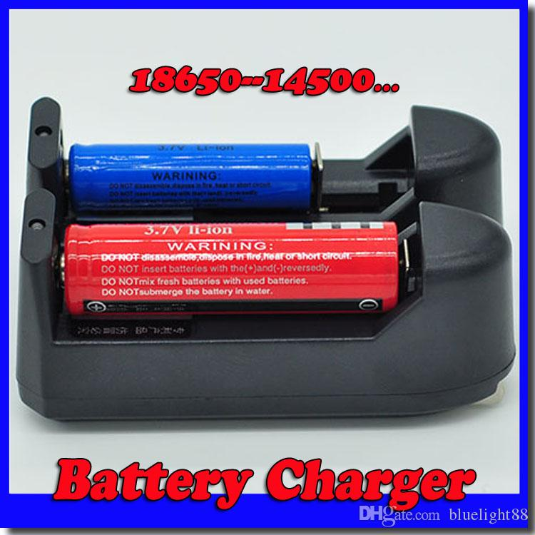 Hot 100PCS 3.7V Battery Charger for 18650/ 14500/ 17500/ 18500/ 26650/ 10440/ 16340And 17670 Battery free shipping