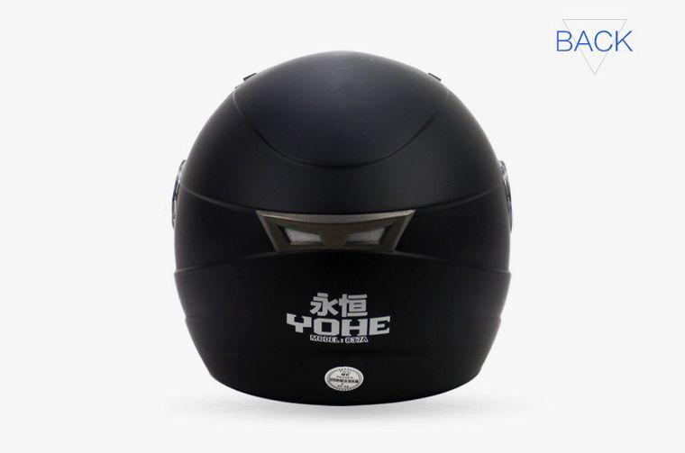 Yohe المزدوج عدسة الشتاء نصف وجه خوذة دراجة كهربائية خوذة دراجة نارية خوذة دراجة نارية خوذة yh837a الحجم m l xl xxl 7 ألوان