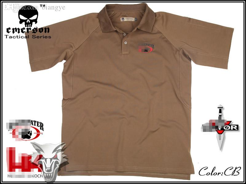 dc5989dd6e50 Wholesale Tactical Tshirt Combat Shirt Emerson POLO Sports Casual EM8571  Coyote Brown UK 2019 From Biangye, UK $$40.81 | DHgate UK