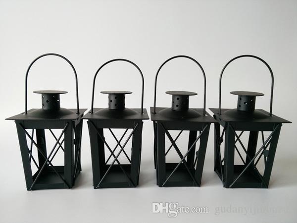 Portacandele in metallo bianco / nero Lanterna in ferro da sposa candelabri candelabri centrotavola matrimonio lanterne marocchine lanterna a candela