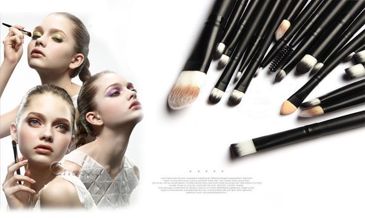 Maquillage professionnel Brosses Set Poudre Fondation Fard À Paupières Eyeliner Lèvres Brosse Outil Costumes pour maquillage professionnel ou usage à domicile