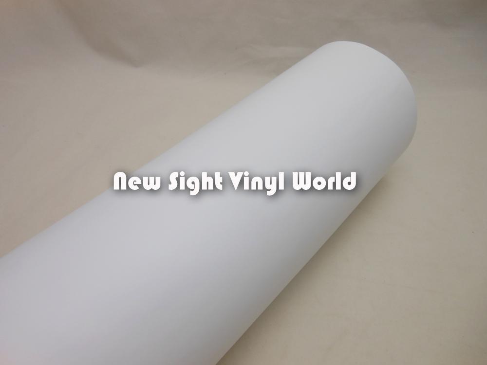 Burbuja libre de la película del aire de la película de vinilo blanco mate de alta calidad para etiquetas engomadas del coche Tamaño: 1.52 * 30m / Roll