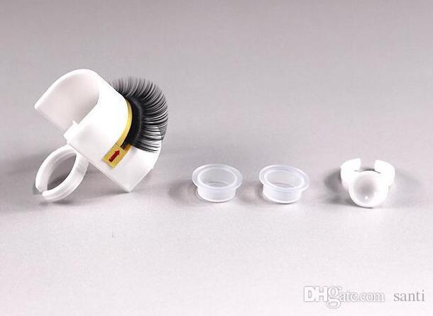 Kirpik Uzatma Tutkal Yüzük Yapıştırıcı Kirpik Palet Tutucu Makyaj Seti Aracı makyaj