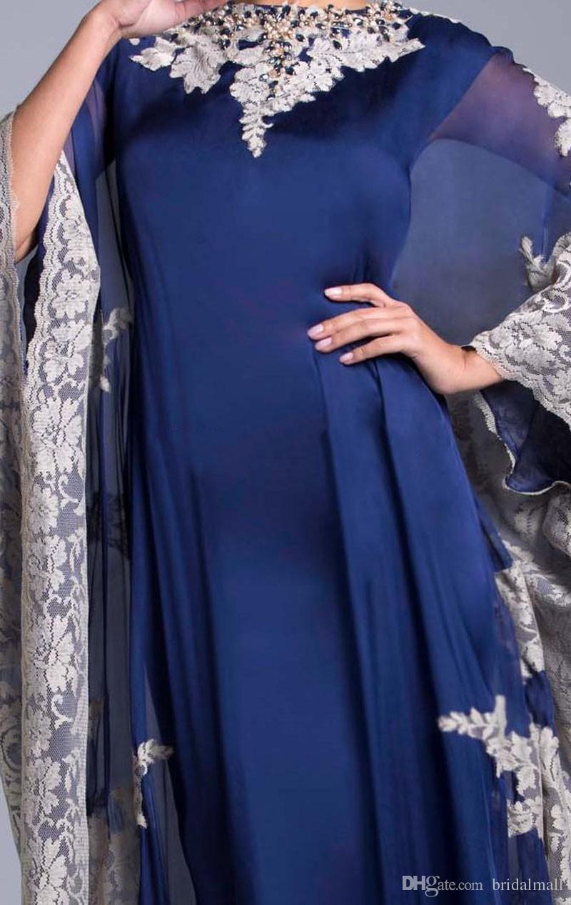 Hot Sale Abayas Dubai Kaftan Evening Dresses High Neck Långärmad Muslim Långärmad Maxi Klänning Arabisk Formell Kvällar Golvlängd