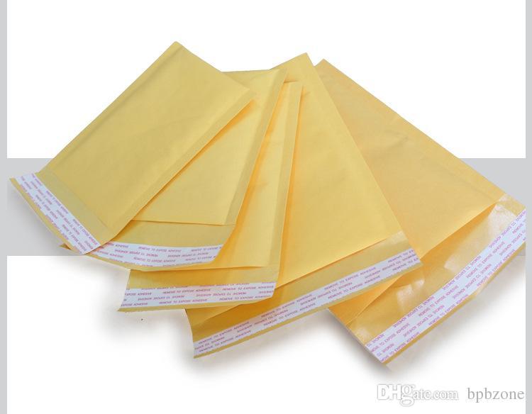 작은 크래프트 버블 메일러 패딩 봉투 가방 120x160 + 40mm 외부 메일 백 크래프트와 PE 버블 무료 배송