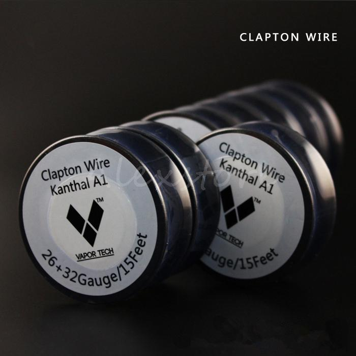 Original VAPOR TECH Clapton Wire Resistance Wires 15 Feet Coils 26+32 awg Gauge Fast Heating Vaporizer Coil DIY Spool for RDA DHL