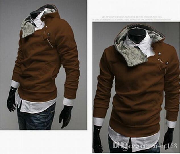 Neue Männer slim Pullover hoody Mantel Jacke Sweatshirts Mantel M-3XL 5 Farben