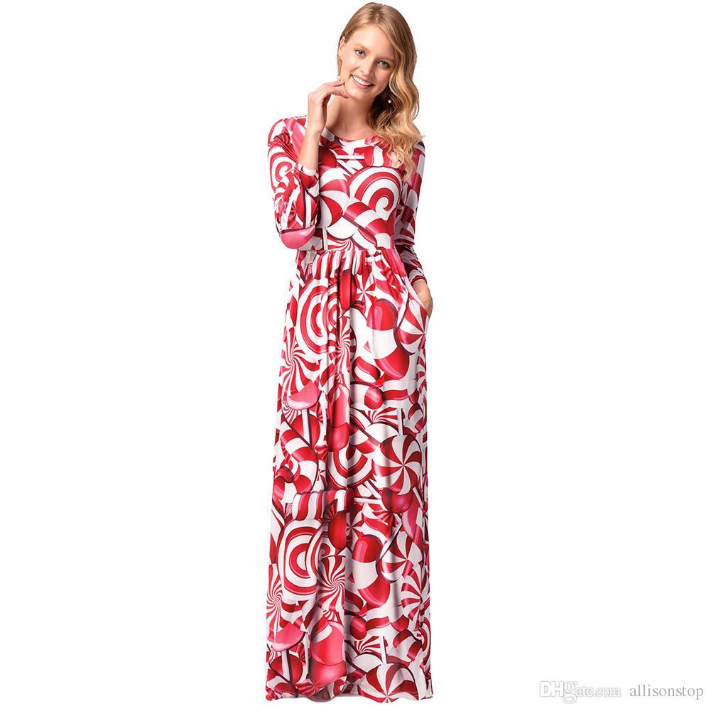 Compre Nueva Moda 2018 Estilo Bohemio Ocasional De Las Mujeres Maxi ...