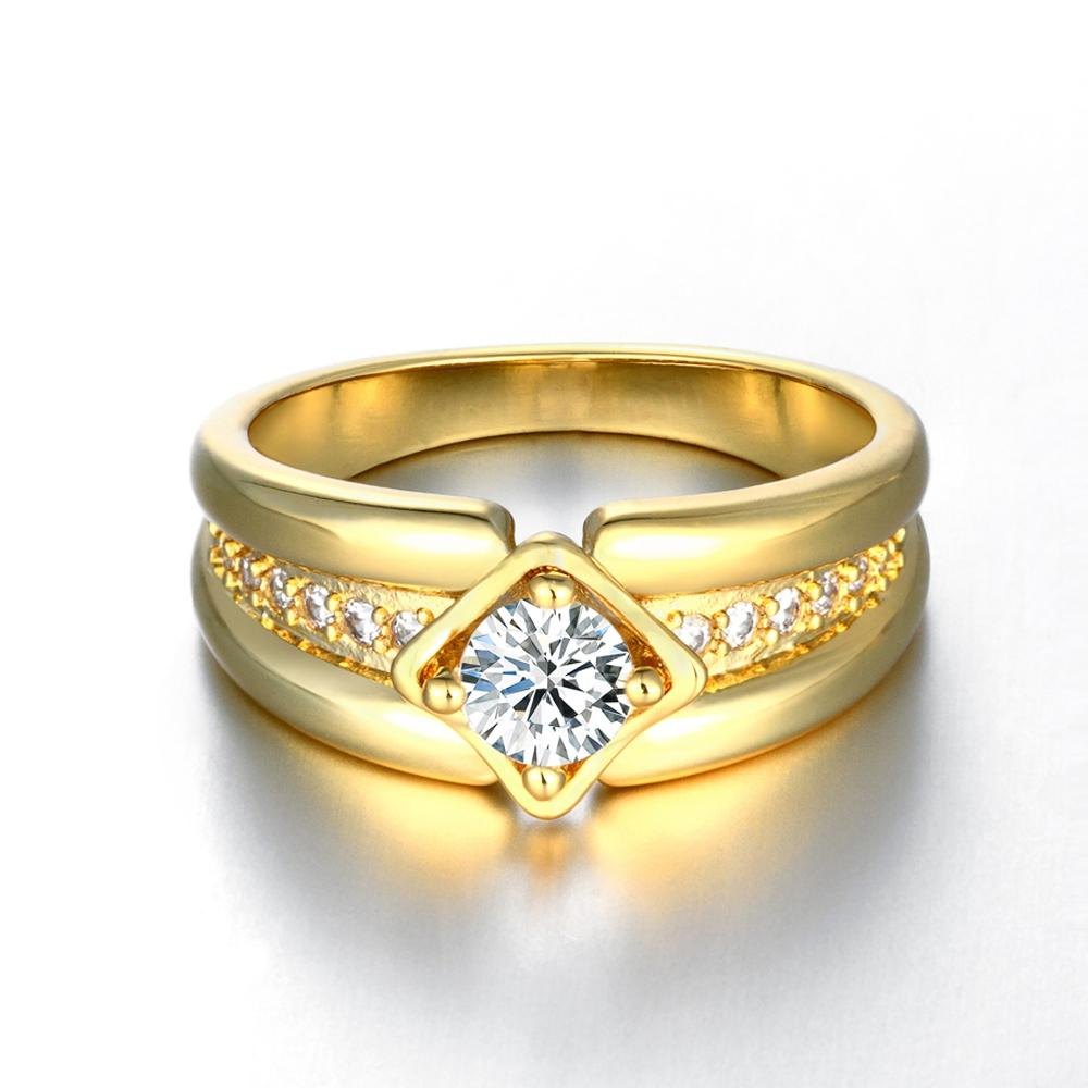 2018 Luxury Men Jewelry PlatinumGoldRosegold Tone Solitaire Ring