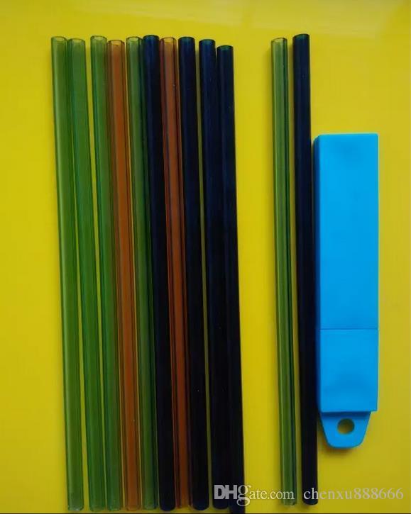 Цветное стекло, длинные 20 см, диаметр 8 мм, цвет случайных доставки, Оптовая стеклянные кальян аксессуары, стеклянные бонги аксессуары, бесплатная доставка, л