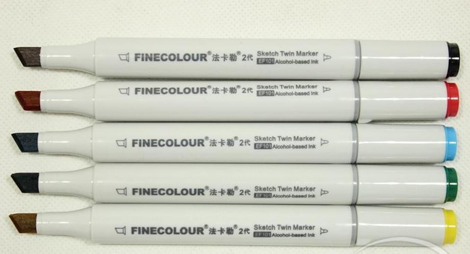 El marcador Finecolour segunda generación plumas del arte pintado a mano Finecolour pluma de diseño pintando encierra para eligió con bolsa de regalo bolsas de pluma