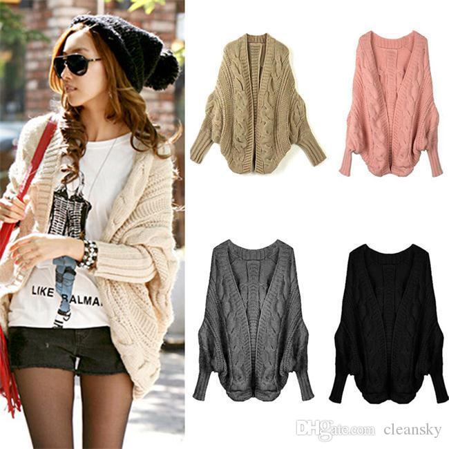 Best 2016 Fall Casual Loose Comfort Cardigan Sweaters Batwing ...