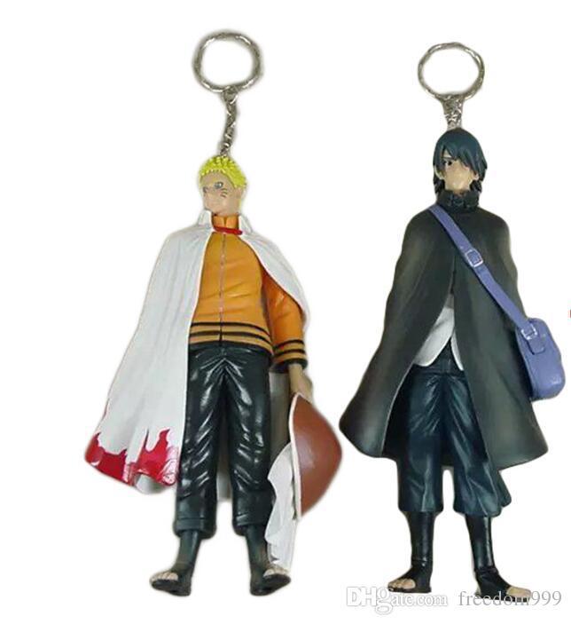 Наруто рисунок Узумаки Наруто и Учиха Саске ПВХ фигурки игрушки модель куклы 16 см приблизительно большой подарок
