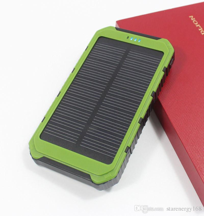 SH-High quality LED Dual USB solar power bank Panel Battery solar portable Charger 10000 mah For xiaomi Mobile Phone 3-TY