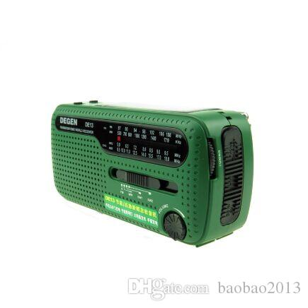 5ae317b18f6 wholesale DE13 Hand Power Generation Solar Rechargeable Radio Full  Environmental Protection And Energy Saving The Radio Band Old Man  Electronics Auction ...