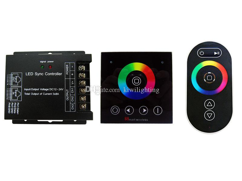 Wireless RF Touch Led Controller 3 Channels Common Anode DC 12V~24V For Led Strip Light Bulbs
