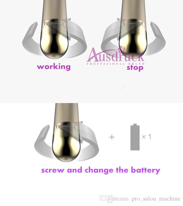 mini Portable 24K gold skin care face care massager vibration massage wrinkle removal facial lifting tightening machine