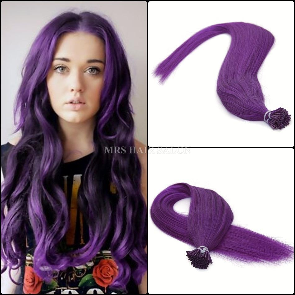 Purple i tip hair extensions 07gstrand straight remy stick tip purple i tip hair extensions 07gstrand straight remy stick tip hair 20 inch keratin human hair extensions 100pcslot pmusecretfo Images