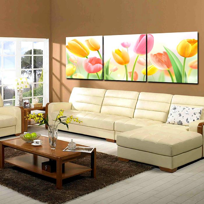 Art Sets Dreamy Tulip Flower Picture Print on Canvas Painting Home Office Hotel Wall Art Decor