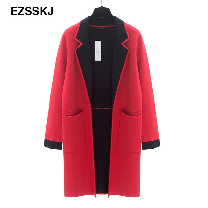 Por Chaqueta Gruesa Mayor Mujer Al Compre Abrigo Básico Roja Balck 5H7AcFFqKp