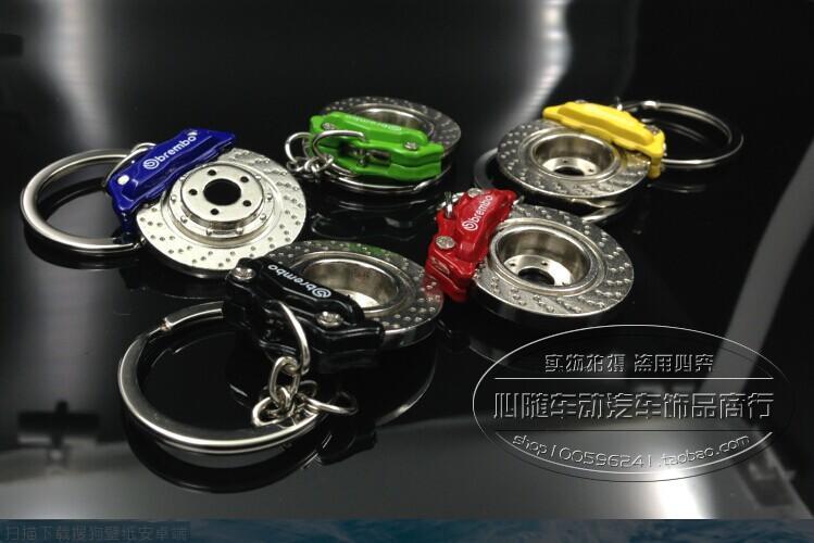 크리 에이 티브 핫 세일 디스크 브레이크 모양 자동차 부품 모델 키 체인 열쇠 고리 열쇠 고리 열쇠 고리 86032