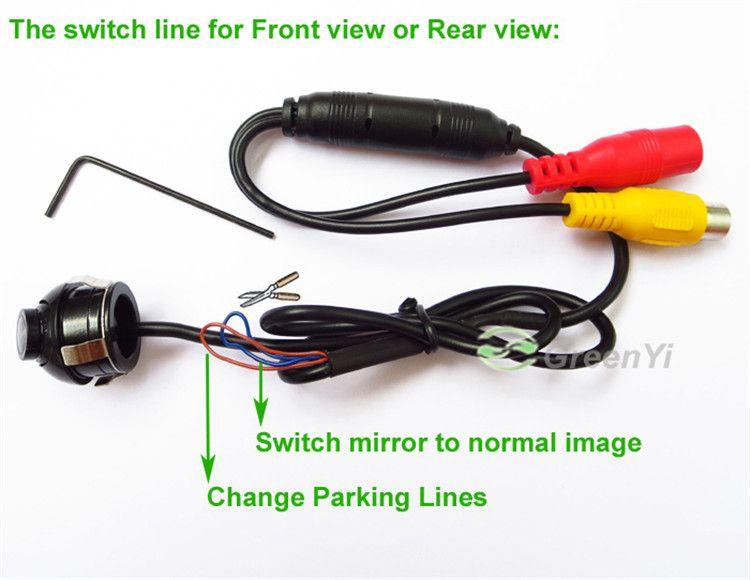 Mini-Weitwinkel-wasserdichte HD CCD-Normalbild-Auto-Front- / Rückfahrkamera mit Spiegelbild konvertieren Linie