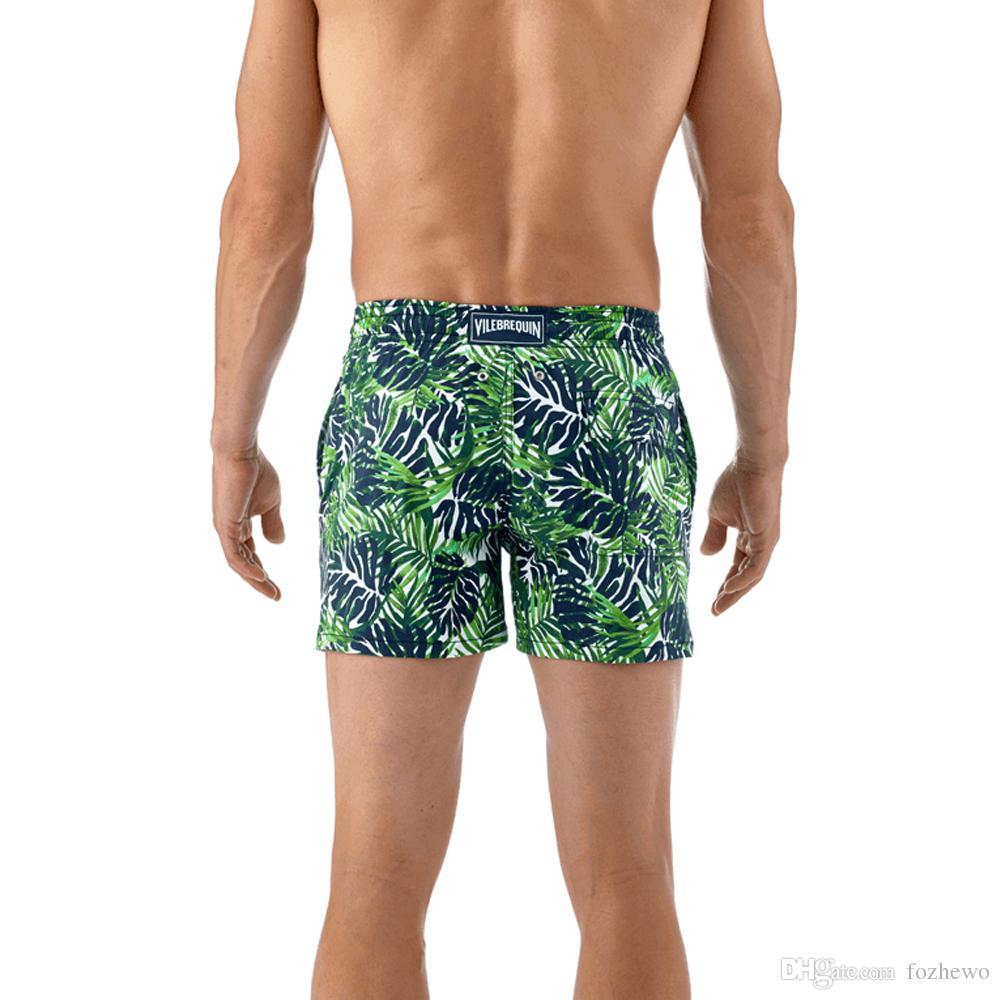 9641b1d4a07f17 Célèbre marque française Short Hommes Casual Shorts Plage Short Marque  Vêtements D été Mode Mid Taille Impression Court Homme