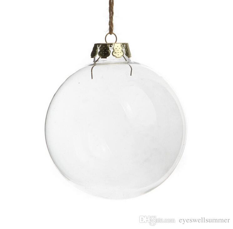 웨딩 지팡이 장식품 크리스마스 크리스마스 유리 공 장식 80mm 크리스마스 공 투명 유리 웨딩 공 3