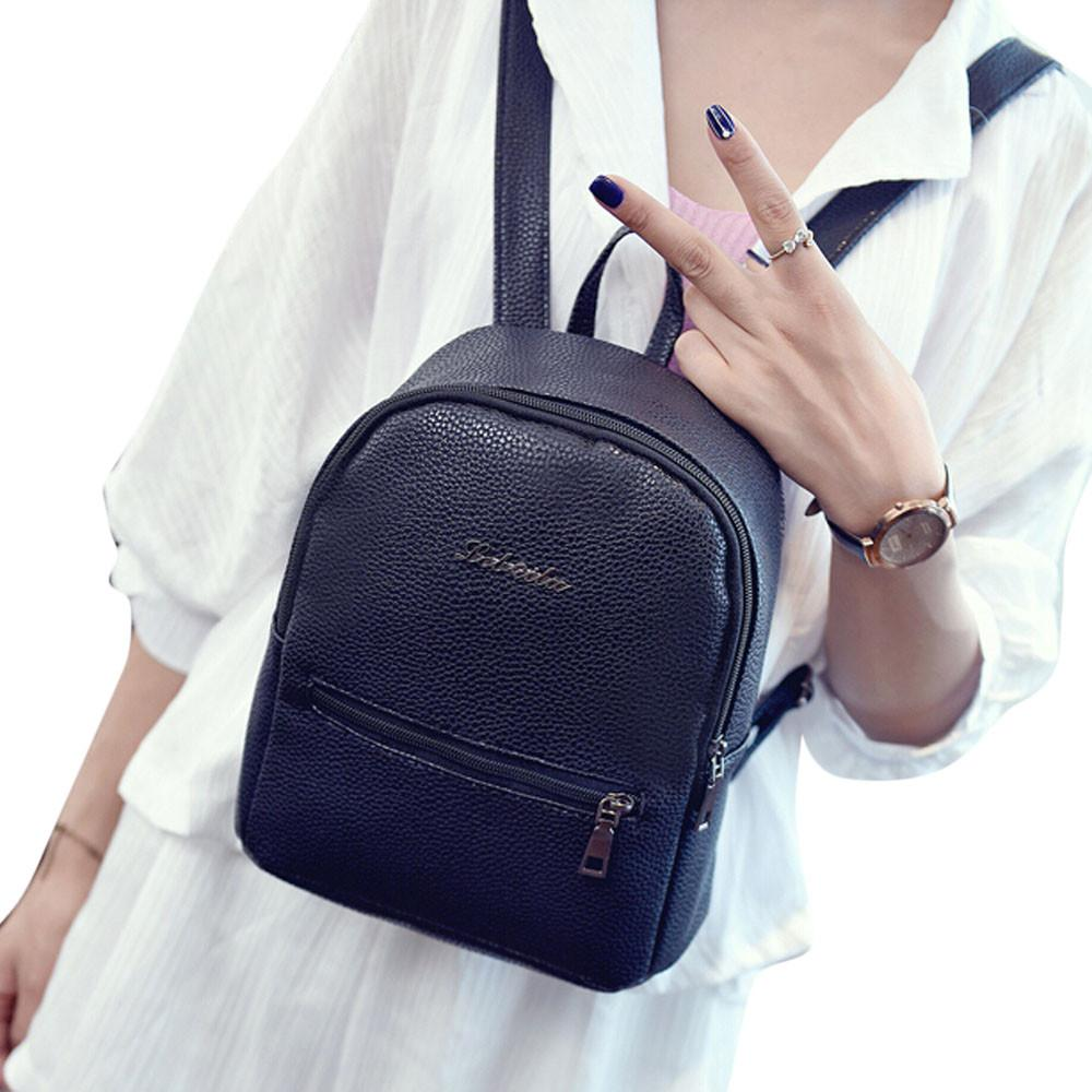 6610e77de58f 2017 New Girls Backpack Women Leather School Bags Travel Backpacks for  Teenager Satchel Shoulder Bag Ladies Rucksack Mochila School Backpack Women  Backpack ...