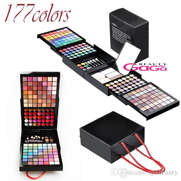 BeautyGaGa Pro Supply 177 Color Makeup Set Eyeshadow Palette Blush Lip Gloss Brow Shader Concealer Eyeshadow Gel Бесплатная доставка