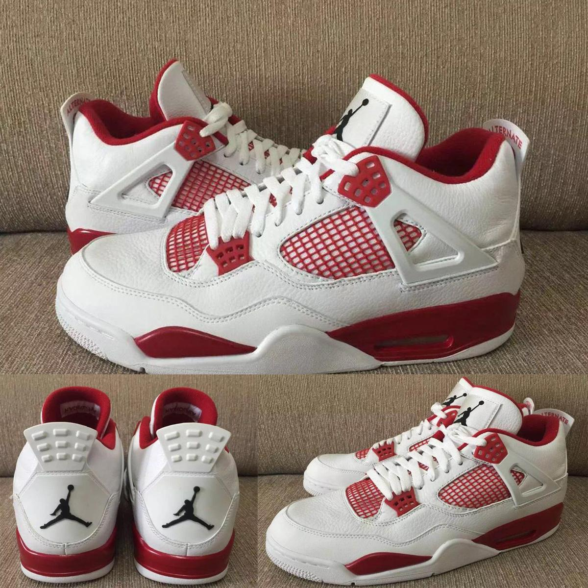 Nike Air Jordan 4 Iv Retro Alternate 89 White Black Gym Red Mens Basketball  Shoes Authentic Men Sneakers 308497 106 Size 8 13 Basketball Mens Shoes  From ... ac58436d4e