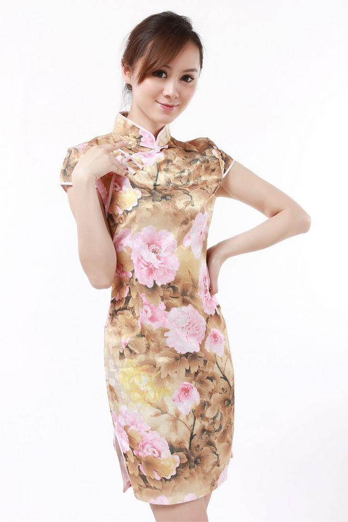 high quality cheap cheongsam cotton qipao Low-profit Chinese Style vintage chinese traditional Dress JY067