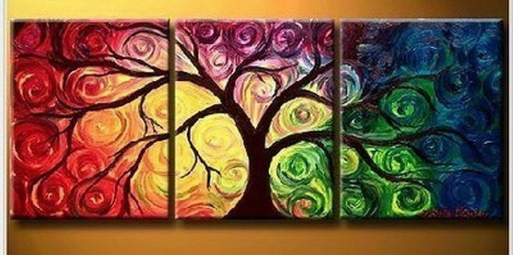 2018 100 hand work modern abstract canvas art oil painting no frame