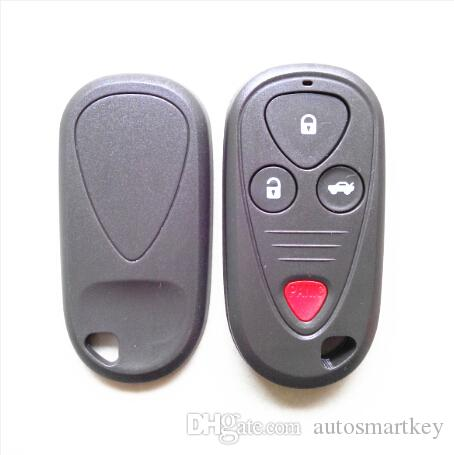 Best auto key shell FOb key case for Acur 3 button with red panic button remote key cover fob key blank free shipping